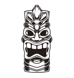 tiki idol design element for logo label sign vector image