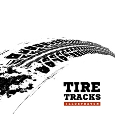 Tire tracks on white vector