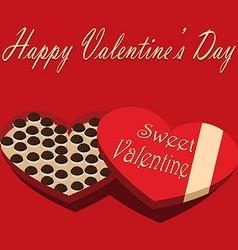 Valentines Day box of chocolate candy sweet vector image