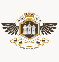 Vintage decorative heraldic emblem composed using vector