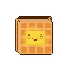 Waffle breakfast food menu icon vector