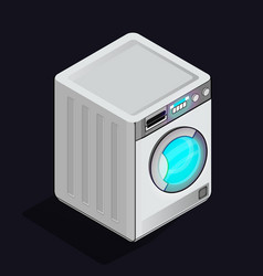 Washing machine icon isolated on light back vector