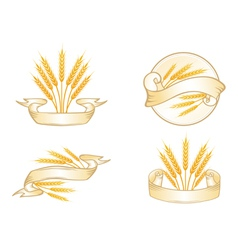 Wheat Label Collection vector image