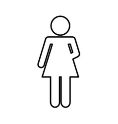 woman figure human silhouettte vector image vector image