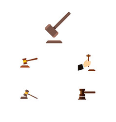 flat icon court set of law court government vector image vector image