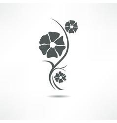 Flower icon vector