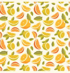 lemon and lime lemonade seamless pattern vector image