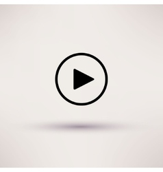 Play button web icon Isolated vector image