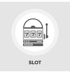Slot flat icon vector image vector image