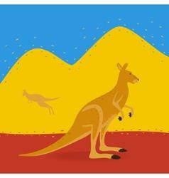 Australian Kangaroo Outdoors vector image vector image