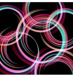 Shiny background with color circle vector image