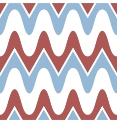 Simple blue red scalloped seamless pattern vector image vector image