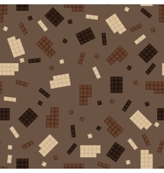 Chocolate bar seamless pattern vector image