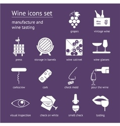 Wine icons collection vector image