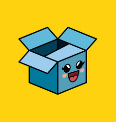 carton box character delivery packing vector image