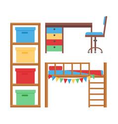 comfortable cozy baby room decor children bedroom vector image