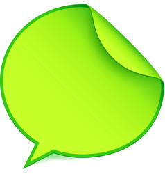 Green paper speech bubble sticker vector image vector image
