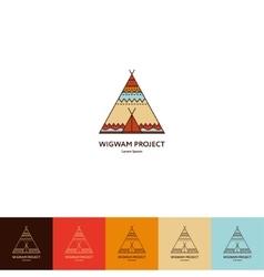 Set of wigwam logo vector