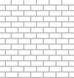 White bricks background - seamless flat design vector