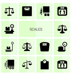 14 scales icons vector
