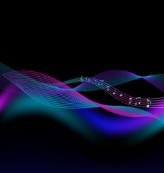 abstract background for music vector image