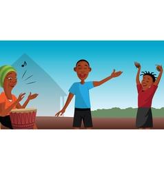 African singers vector image