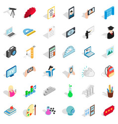 Applause icons set isometric style vector