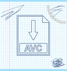avc file document icon download avc button line vector image