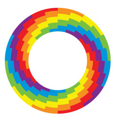 background of round wheel circle with rainbow vector image