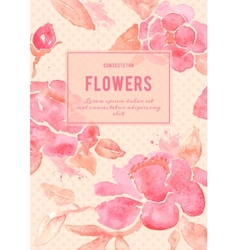 Background with Peony flowers in vector image