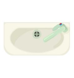 bathroom sink icon cartoon style vector image