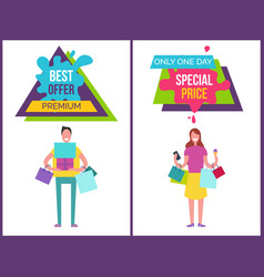 best offer premium one day vector image