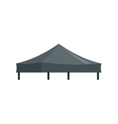 Black tent icon flat style vector