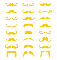 Blond moustache or mustache icons set vector image