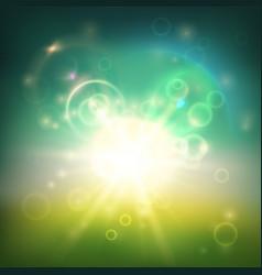 Blurred greenish background vector