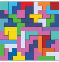 Bricks game pieces vector