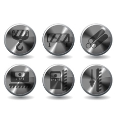 Building equipment icons set vector image