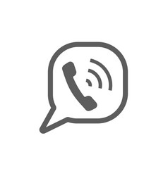 Call speech bubble sign call speech bubble sign vector