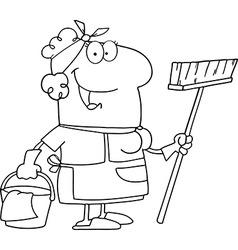 Cleaner cartoon vector