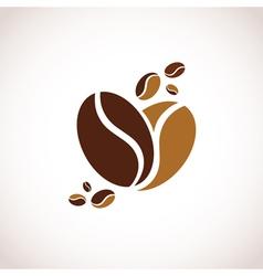 Coffee Heart Symbol vector