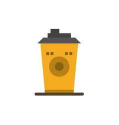 Coffee mug starbucks black coffee flat color icon vector