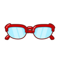 Color image a vintage sunglasses on a white vector