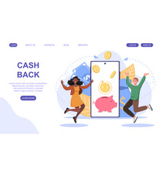 Coupe rejoice for cash back rewards concept vector