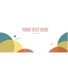 Design bubble abstract header website vector