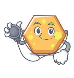 doctor hexagon character cartoon style vector image