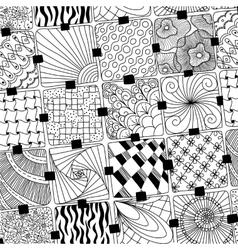 Doodles pattern zentangle vector