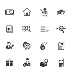 E-commerce interface icon set vector