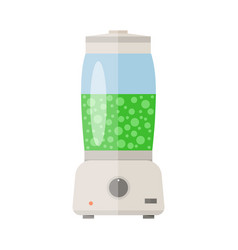 Electronic food and smoothie blender vector