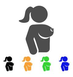 Female breast icon vector