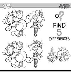 Find differences coloring book vector